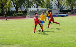 Türkiyemspors Abdoul Conté im Dribbling
