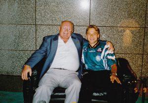 Heinz Boock und Thomas Häßler in den 90er-Jahren